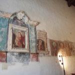 Le ossa sotto la Chiesa di San Nicola a Cesano
