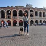 Carmen Cannizzaro e Kobe ArcheoDogInfluncer
